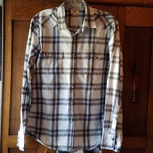 Men's Lucky Brand Plaid Western Shirt S
